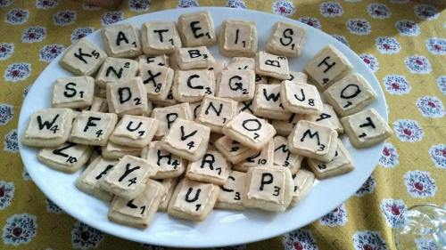 scrabble tile sugar cookies