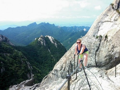 Climbing Bukhansan